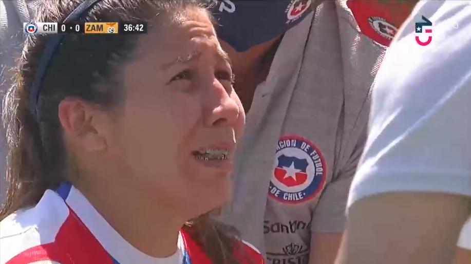 Carla Guerrero sufrió luxación