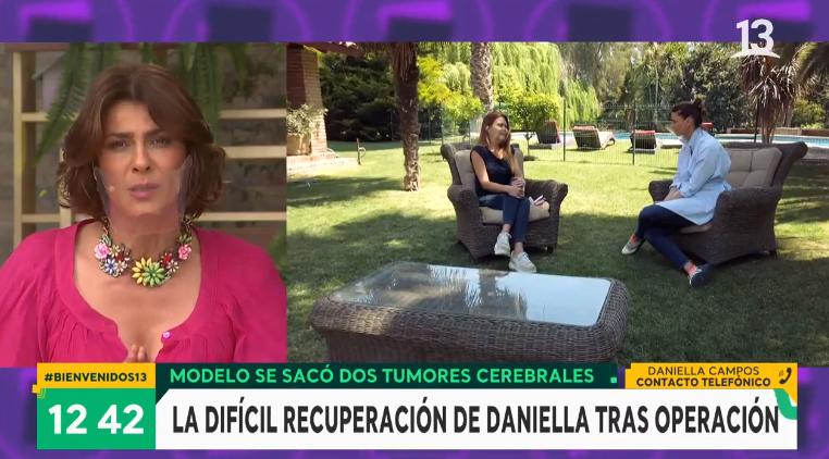 Daniella Campos se quebró en 'Bienvenidos' al hablar de su salud