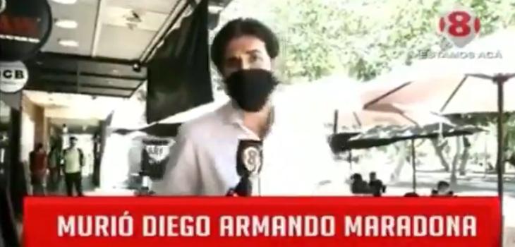 periodista argentino protagonizó tremendo fail en despacho por muerte de Maradona