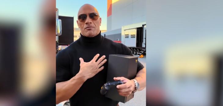 Solidario gesto de 'La Roca' tras estreno de Xbox Series X