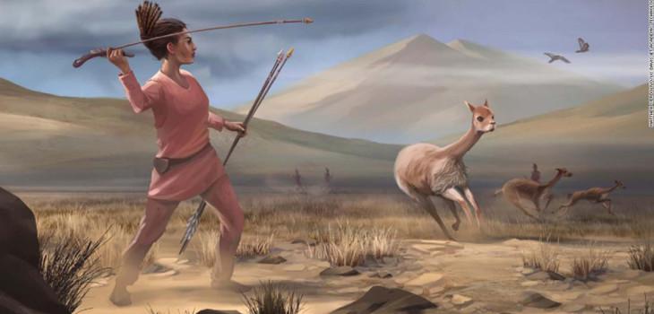 Mujer cazadora, prehistoria