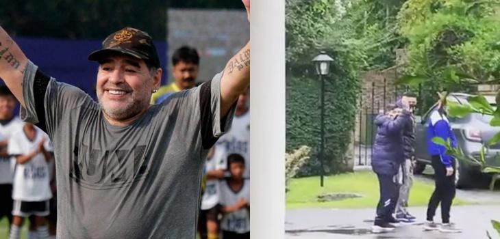 viralizan tierno gesto de Maradona con un niño días antes de fallecer