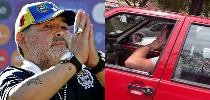 captan a hincha llorando al enterarse de la muerte de Maradona