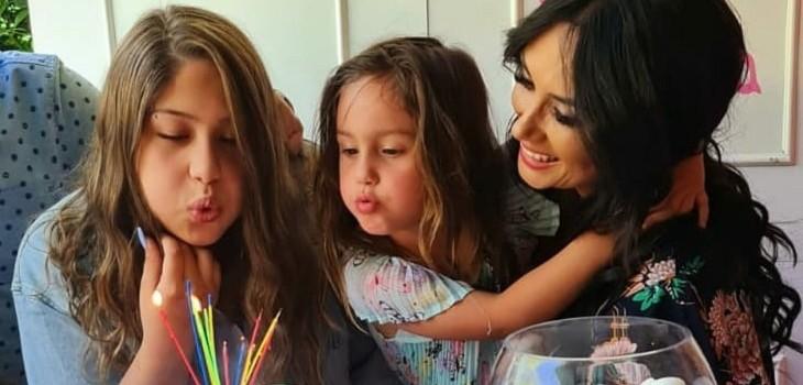 pamela díaz celebró cumpleaños de sus hijas