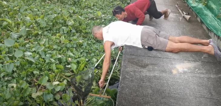 hombre rescata a cachorro de morir ahogado en un río