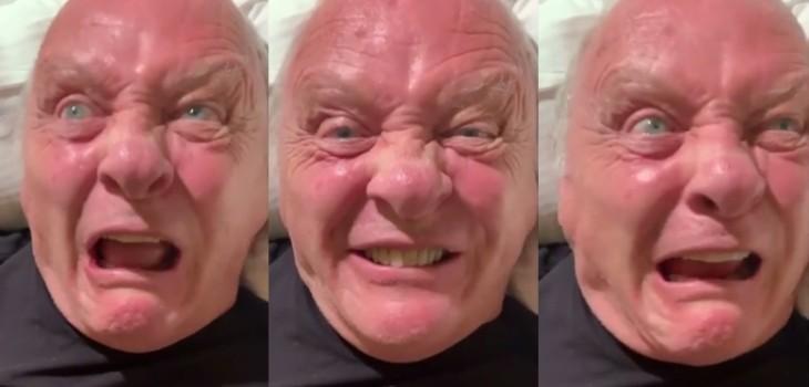 Perturbador video de Anthony Hopkins se volvió viral: mostró
