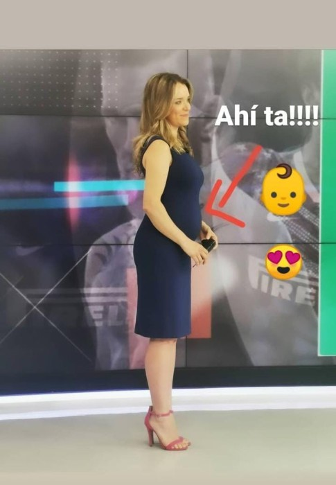Carla Zunino y su embarazo