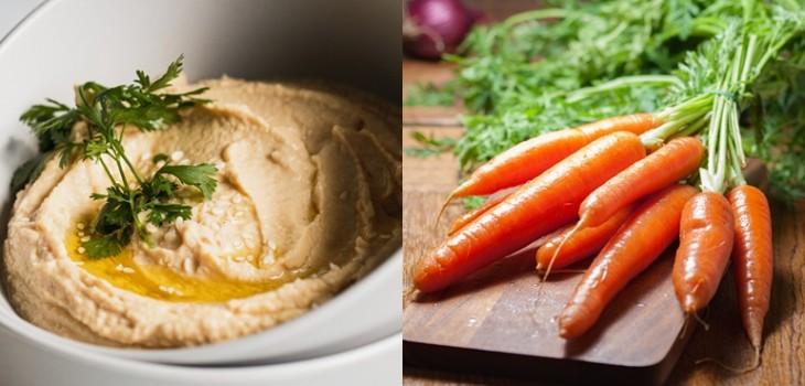 Hummus de zanahoria: la alternativa sencilla y saludable para alimentarse después de las fiestas