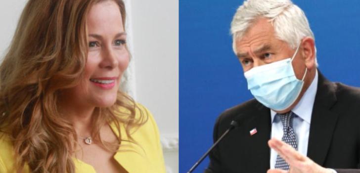Cathy Barriga critica a ministro Paris por casos COVID