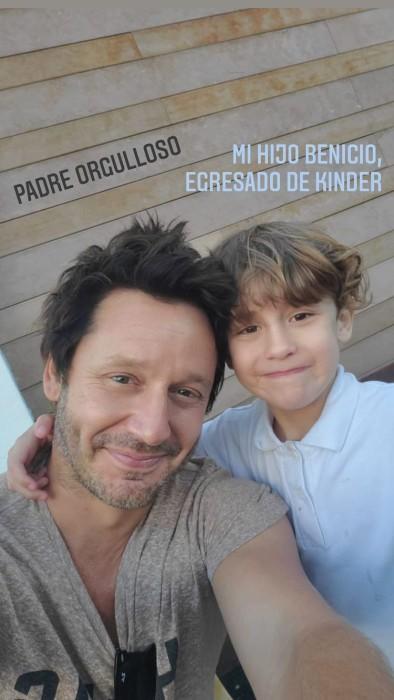 Benja Vicuña y su hijo Benicio