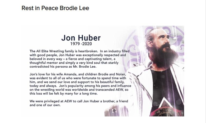 Homenaje de AEW a Luke Harper