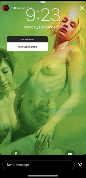 Billie Eilish perdió 100 mil seguidores por subir ilustraciones de desnudos: artista reaccionó