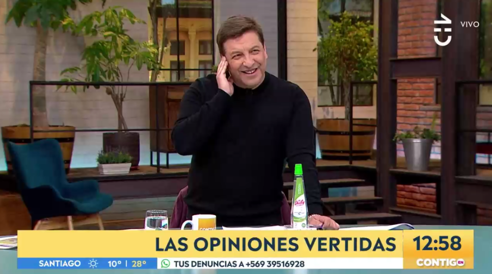 "Julio César Rodríguez bromeó con fallidas vacaciones en matinal de CHV: ""Voy a venir en sunga"""