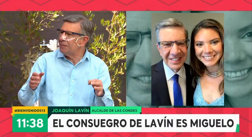 Joaquín Lavín y matrimonio de su hija