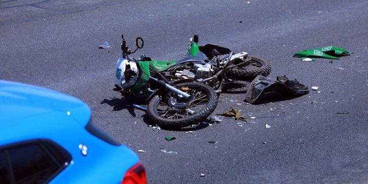 carabineros atropellados moto