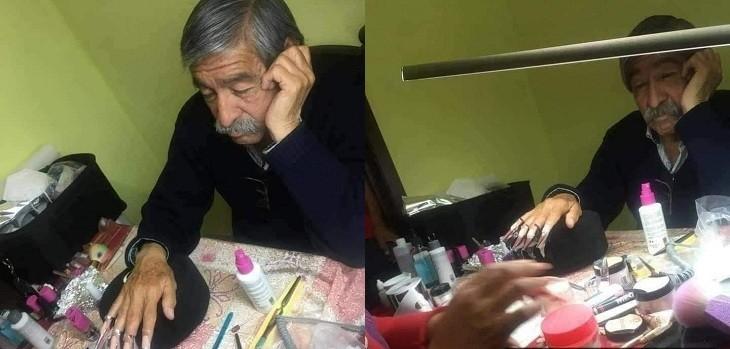 papa uñas examen hija