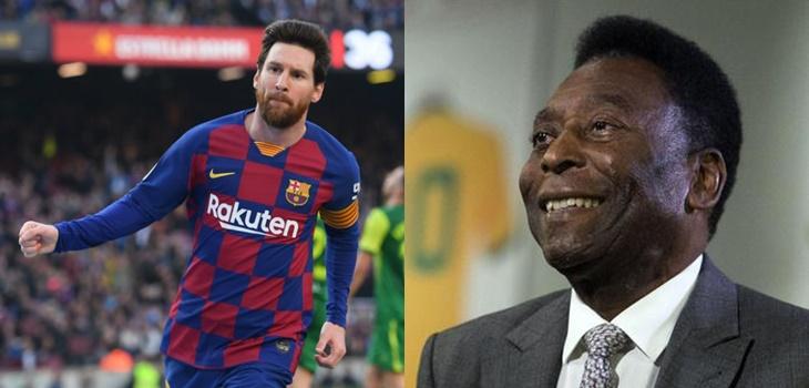 Messi iguala a Pelé como máximo goleador de un mismo club