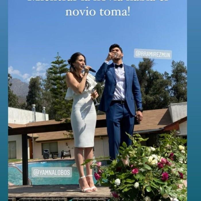 Yamna Lobos contrajo matrimonio con su pareja Rodrigo Ramírez
