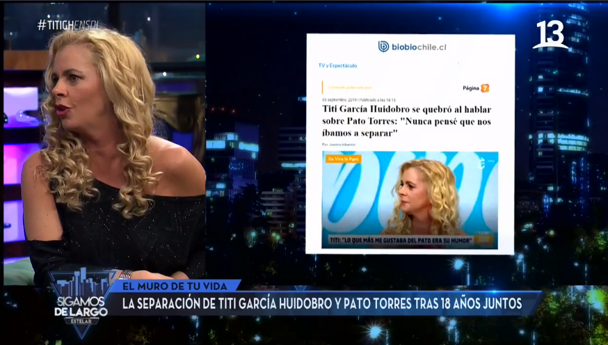 Titi García-Huidobro habló del quiebre con Pato Torres