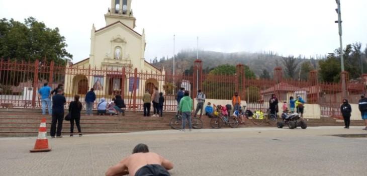 Peregrinos llegan a Santuario de Lo Vásquez pese a prohibición y contraviniendo normas sanitarias
