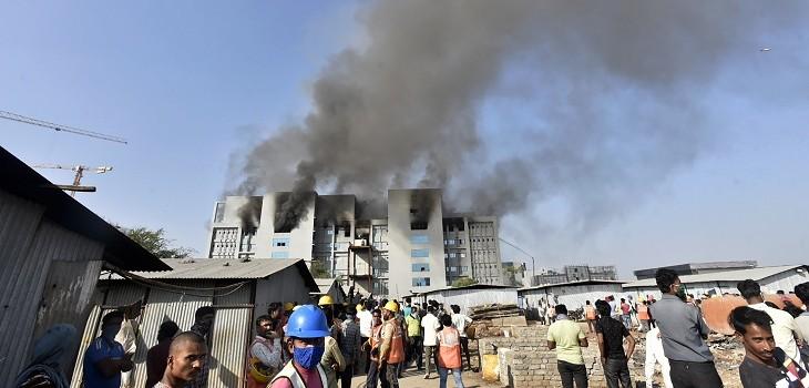 incendio en fábrica de vacunas