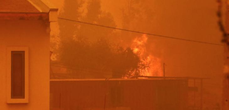 Toque de queda por incendio en Quilpué