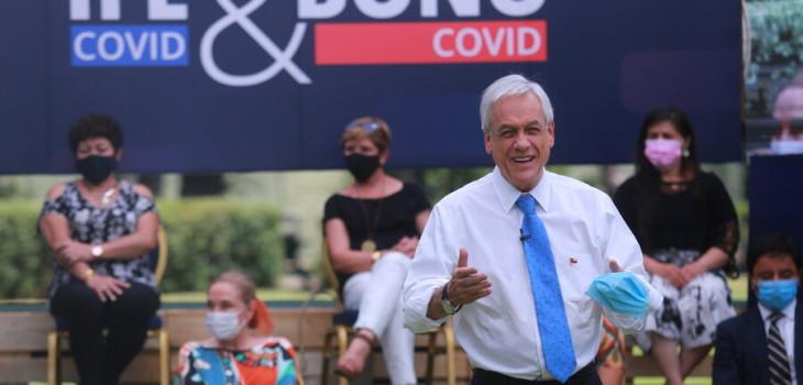 Piñera anuncia entrega de tres bonos para afectados por la pandemia