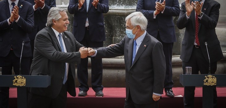 Presidente Fernández y Piñera