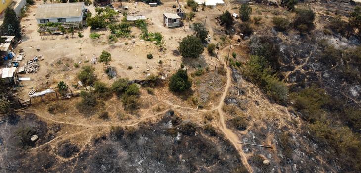 incendios en Valparaíso y Quilpué