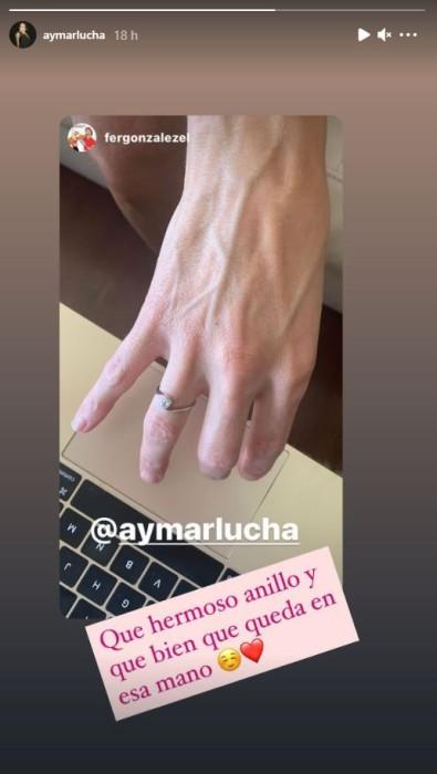 Anillo de Luciana Aymar