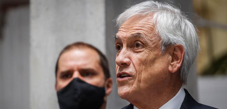 Piñera envia mensaje desde cuarentena preventiva