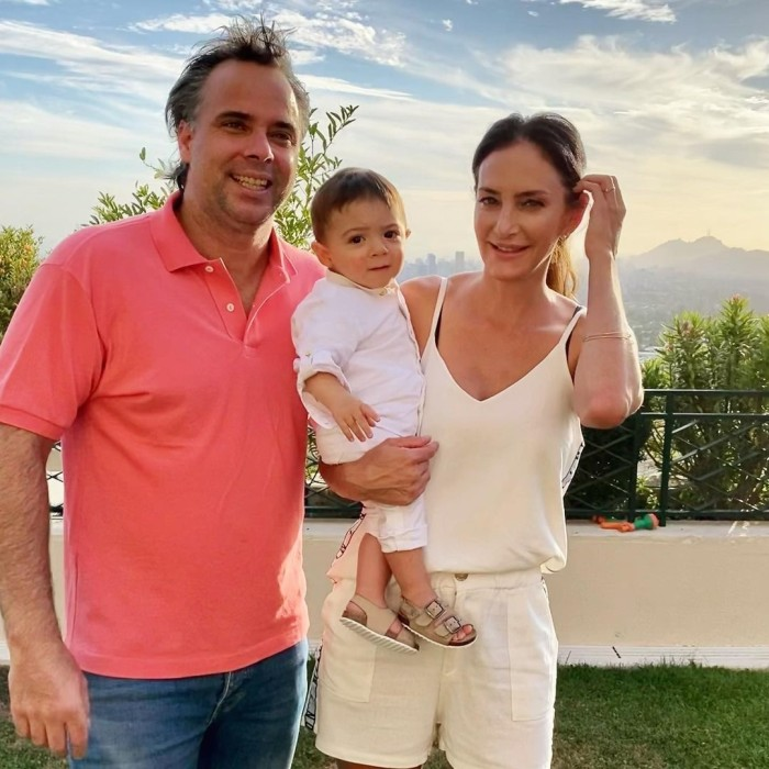 Fernando González y su familia