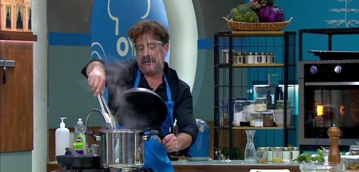 Marcial Tagle provoca carcajadas por episodio con pulpo en Oye al Chef