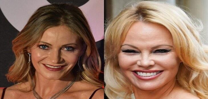 Marcela Vacarezza y Pamela Anderson