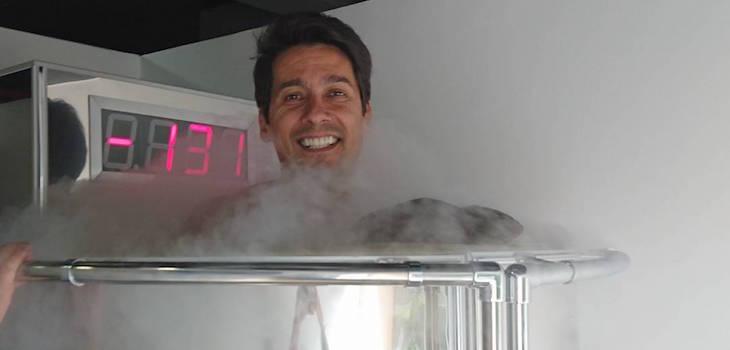Rafael Araneda en tratamiento de crioterapia