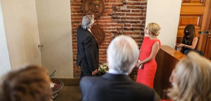 Alberto Fernández homenajeó a Salvador Allende en La Moneda
