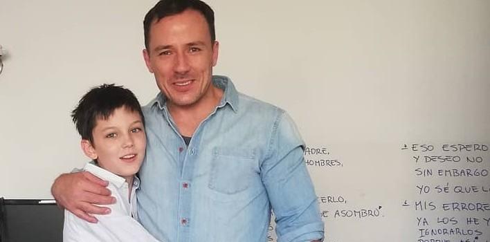 Gonzalo Egas se tatuó nombre de su hijo