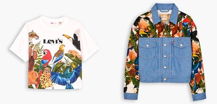 Levi's presenta nueva colección junto a Farm con diseños en la jungla