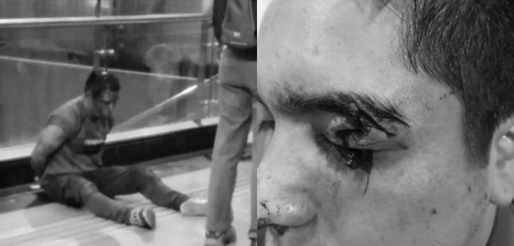 pasajero agredió a guardias del metro al perder último tren
