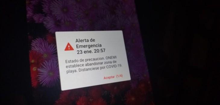Ofician a la Onemi por falla en alerta para evacuar las zonas costeras en Chile