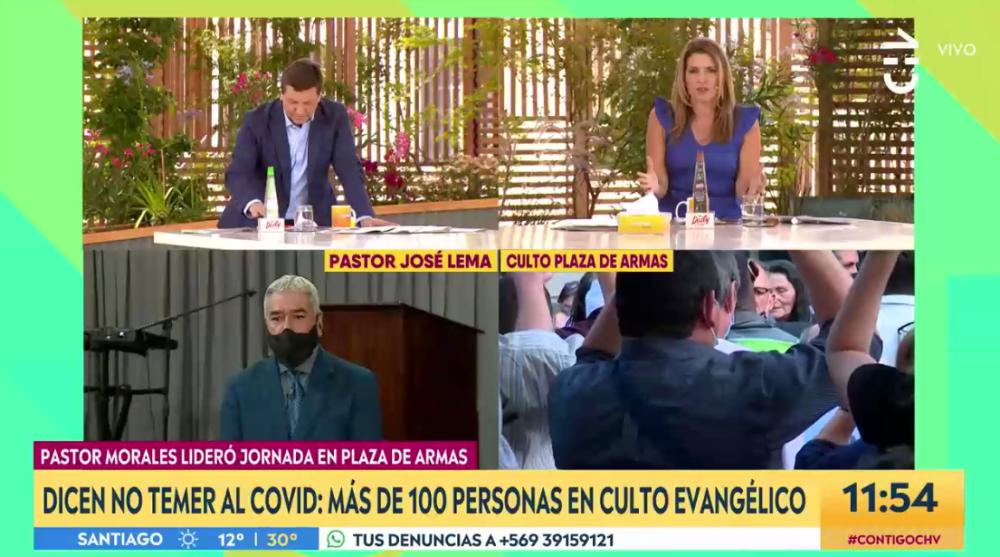 """El cuestionado mensaje de pastor en CHV sobre prédicas en público: """"Que lleguen 500 personas"""""""