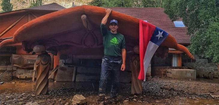 Pangal Andrade y recuperación de su hotel tras aluvión