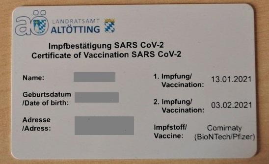 Carnet de vacunación en Alemania