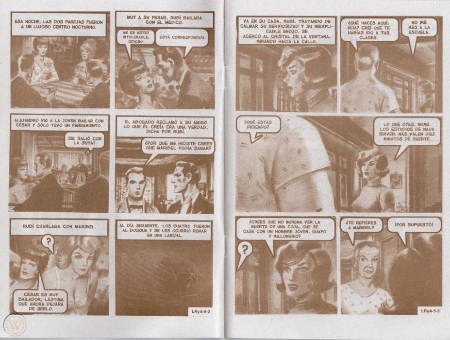 la evolución de 'Rubí' en los cómics y la TV