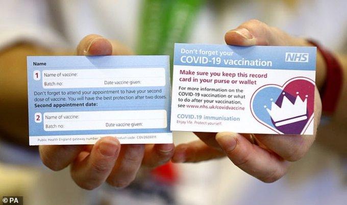 Carnet de vacunación en Reino Unido