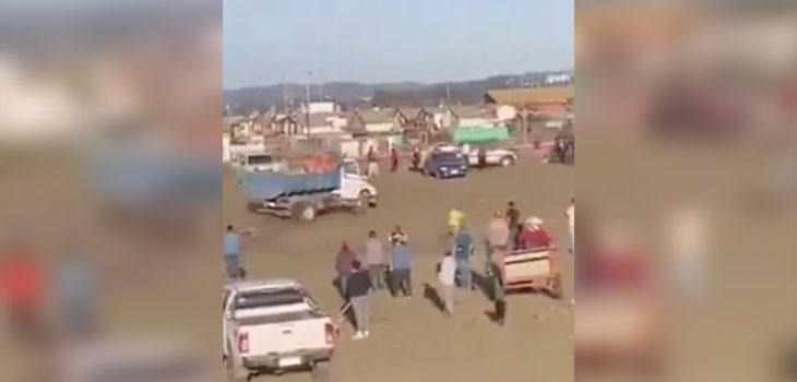 camión y loca conducción