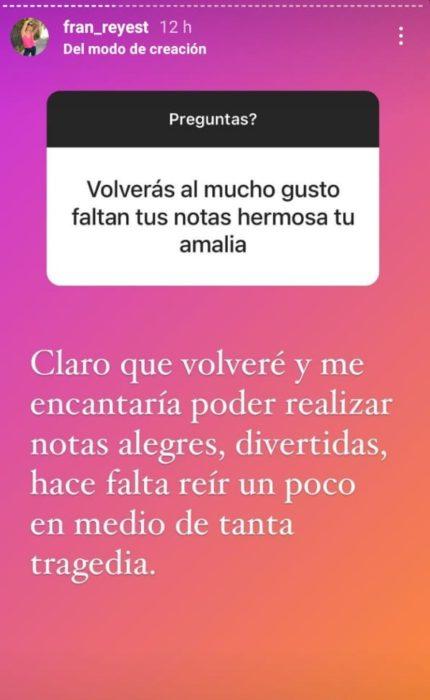 Fran Reyes | Instagram
