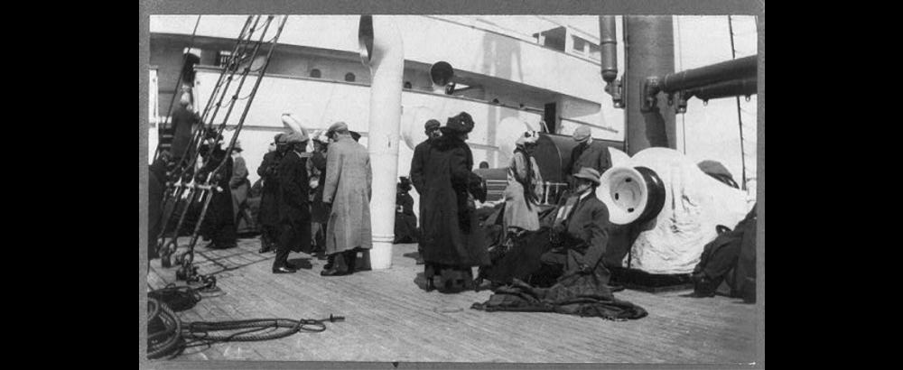 Sobrevivientes del Titanic a bordo del Carpathia   Biblioteca del Congreso de Estados Unidos