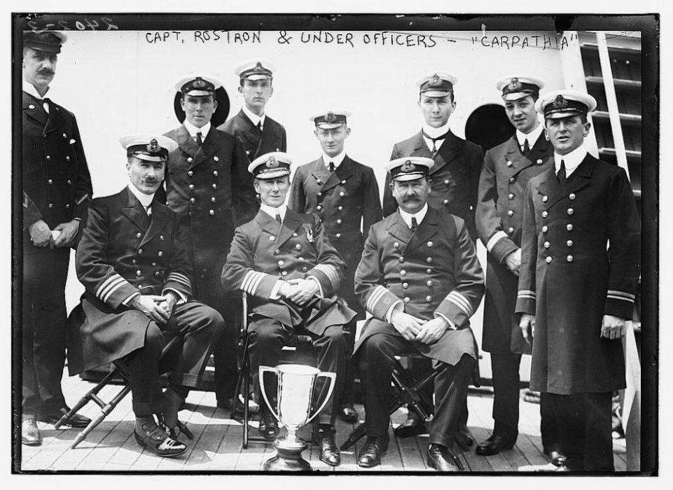 La tripulación del Carpathia recibió un homenaje por sus labores de rescate   Biblioteca del Congreso de Estados Unidos