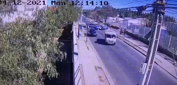 conductor atropelló a carabinero y hombre de 74 años